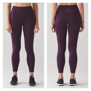 Lululemon Align Pants in Black Cherry